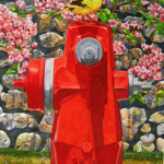 Red Hydrant Perch